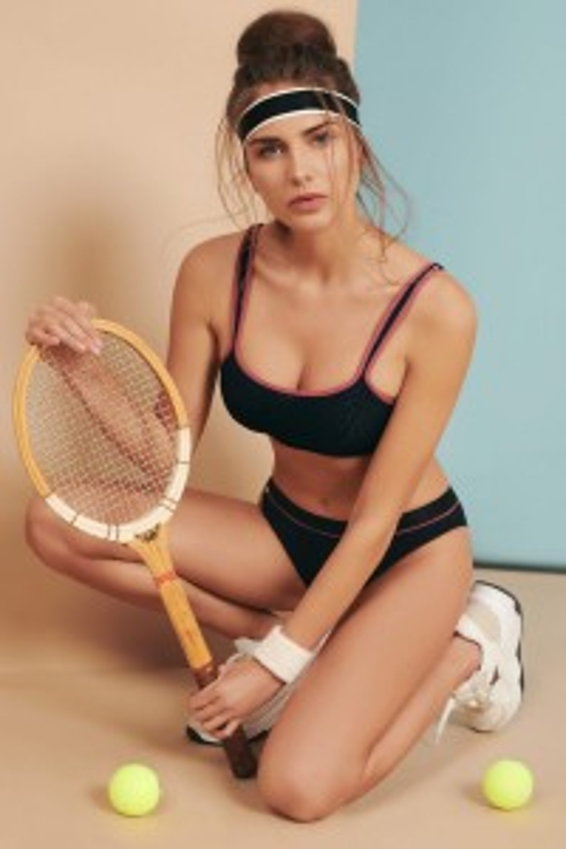 Sportski grudnjak s pjenastim košaricama bez žice »Playful«