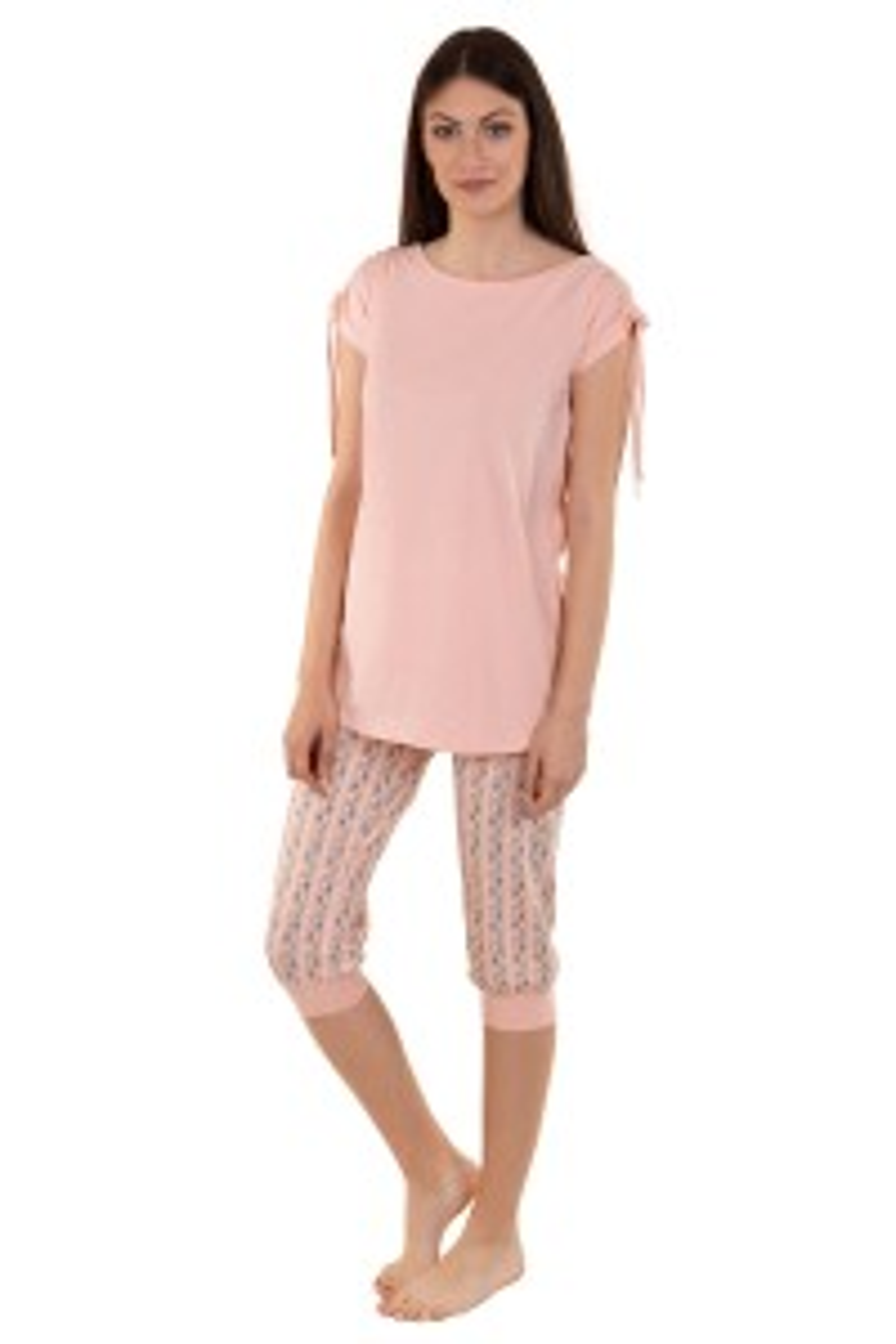 Pidžama s tunikom i 3/4 hlačama »Soft Spot«