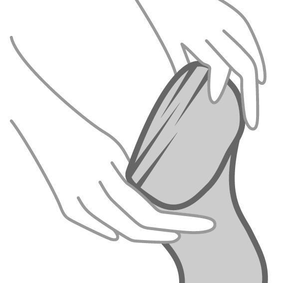 Odijevanje čarapa - 1.korak